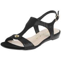 Sandały Nessi 17187 Czarne - Czarny lizaro, kolor czarny