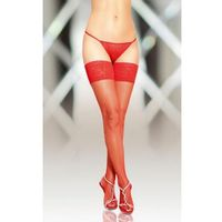SoftLine Collection Stockings 5537 - red pończochy do paska
