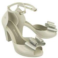 82442 diva top sandal fem szary/srebrny, sandały damskie - szary, Zaxy