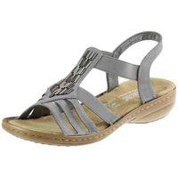 Sandały 60800 - szare marki Rieker