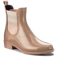 Kalosze TOMMY HILFIGER - Chelsea Rain Boot Striped FW0FW02817 Mahogany Rose 634, w 5 rozmiarach
