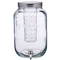 Kitchen craft Słój szklany z kranikiem i wkładem na owoce 7.5l -