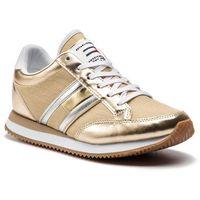 Sneakersy TOMMY JEANS - Casual Retro Sneaker EN0EN00413 Light Gold 715, w 7 rozmiarach