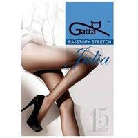 Gatta julia stretch 15 den plus grafitowy rajstopy, kolor szary