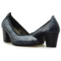 Pantofle Tamaris 1-22406-27 855 Navy Granatowe lico