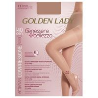 Rajstopy Golden Lady Benessere 140 den 4-L, beżowy/playa. Golden Lady, 2-S, 3-M, 4-L, 8300081818320