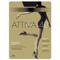 Rajstopy Omsa Attiva 40 den S-XL 4-L, grafitowy/fumo. Omsa, 2-S, 3-M, 4-L, 5-XL, kolor niebieski