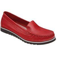Mokasyny 10050 czerwone damskie wsuwane marki Lemar