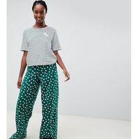 ASOS DESIGN Tall stripe tee and floral wide leg pyjama trouser - Multi