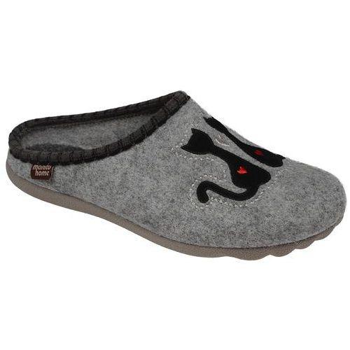 Kapcie pantofle domowe ciapy 320469-9 popielate - szary ||popielaty, Manitu