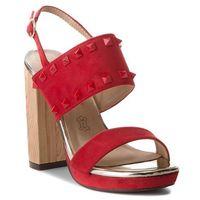 Sandały MENBUR - 09242 Bright Red 0076, kolor czerwony