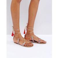 grallan flat tassel sandals - multi, Call it spring