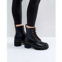 leona hiker chunky lace up ankle boots - black, Dr martens