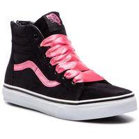 Sneakersy - sk8-hi zip vn0a3276ujx1 (satin velvet) black/pink, Vans