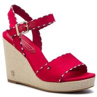 Espadryle TOMMY HILFIGER - Corporate Detail High Wedge FW0FW04174 Tango Red 611, w 6 rozmiarach