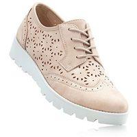 Buty sznurowane bonprix dymny różowy metaliczny, w 8 rozmiarach