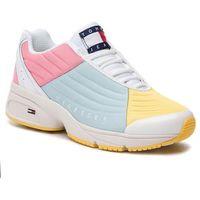 Sneakersy TOMMY JEANS - Color Block Tommy Jeans Sneaker EN0EN00554 Geranium Pink/Canalblue/Aspeng 901, kolor wielokolorowy