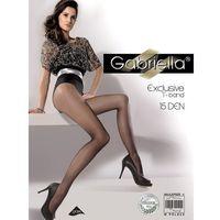 Rajstopy exclusive 15 den 3-m, grafitowy, gabriella marki Gabriella