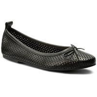 Baleriny WOJAS - 6428-51 Czarny, kolor czarny