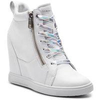 Sneakersy - iridescent dress sneaker fw0fw03921 white 100 marki Tommy hilfiger