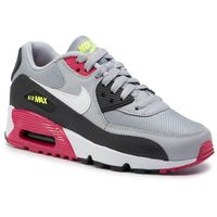 Buty - air max 90 mesh (gs) 833418 027 wolf grey/white rush/pink volt marki Nike