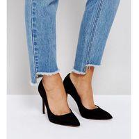 paris wide fit pointed high heels - black, Asos