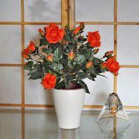 Greentree Sztuczny kwiat róża czerwona sztuczne kwiaty
