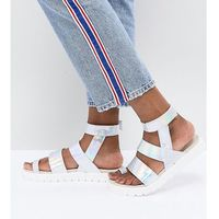 strap detail holographic sandal - multi, Monki
