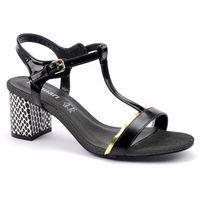 Sandały but0240-m20 czarny marki Monnari