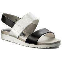 Sandały - 9-28608-20 black/silver 077, Caprice, 37-40