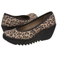 Czółenka yalu leopard/black p500509005 (fl145-b) marki Fly london