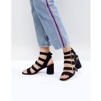 Faith Buckle Block Heeled Sandals - Black, kolor czarny