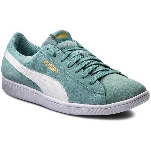 Sneakersy PUMA - Vikky 362624 26 Aquifer/Puma White, kolor zielony