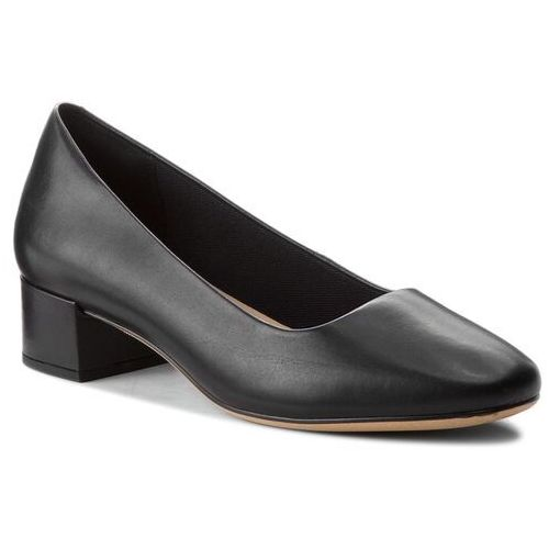 Clarks Półbuty - orabella alice 261349614 black leather 030