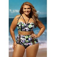 Strój kąpielowy Boho Tropical XL-XXXL XL CZARNY, kolor czarny