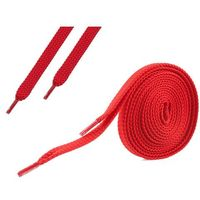 Omniskus Sznurówki płaskie do butów 7 mm - czerwone - czerwony