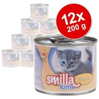 Smilla Korzystny pakiet kitten, 12 x 200 g - pakiet mieszany