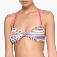 Góra stroju kąpielowego w formie opaski z wyciąganymi miseczkami marki La redoute collections
