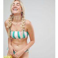 multi stripe bandeau bikini top - multi, Monki, XS-XL