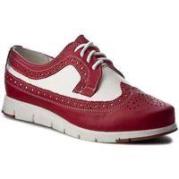 Oxfordy POLLONUS - 5903 Czerwony/Biały, kolor czerwony