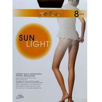 Rajstopy sun light 8 den rozmiar: 2-s, kolor: beżowy/beige naturel, omsa marki Omsa