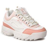 Sneakersy - disruptor cb low wmn 1010604.02w marshmallow/salmon marki Fila