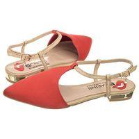 Sandały Carinii Czerwone B3382 (CI232-a), kolor czerwony