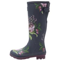 Tom Joule WELLY PRINT Kalosze french navy/artichoke, kolor niebieski