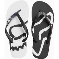 japonki FOX - Beached Flip Flop Black/White (018), kolor biały