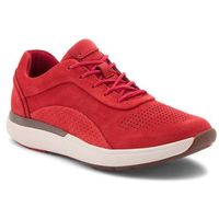 Sneakersy - un cruise lace 261356894 red nubuck marki Clarks