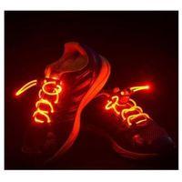 Świecące sznurówki LED - czerwone