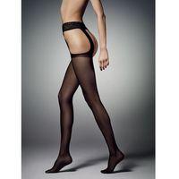 Rajstopy sexy strip 20 den rozmiar: 4-l, kolor: czarny/nero, veneziana, Veneziana