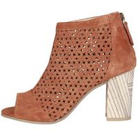 Buty za kostkę botki damskie PIERRE CARDIN - HERMELINE-83, kolor brązowy