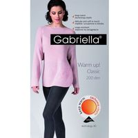 Rajstopy Gabriella Warm Up! 3D 409 200 den 4-L, czarny/nero, Gabriella, kolor czarny